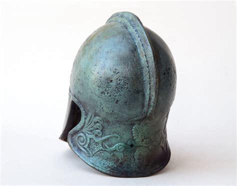 Ancient Greek Corinthian Metal Bronze Helmet