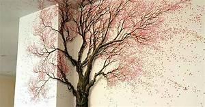 Baum An Wand Malen : baum an die wand gemalt diy pinterest wand malen w nde und malen ~ Frokenaadalensverden.com Haus und Dekorationen