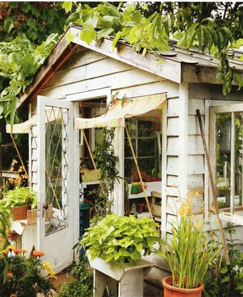 Pretty Sheds by Faded White Linen Welcoming Shed