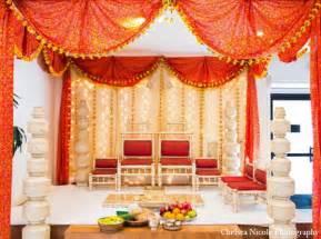 indian wedding decorations indian wedding mandap decor white gold maharani weddings