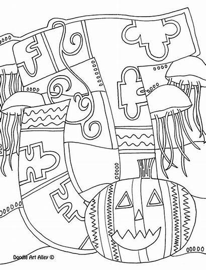 Coloring Pages Alphabet Doodle Letters Letter Alley