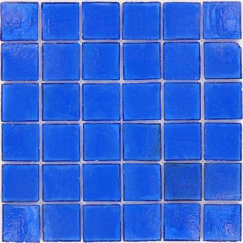 blue glass tile 2 x 2 blue glass square tile glossy z1130a
