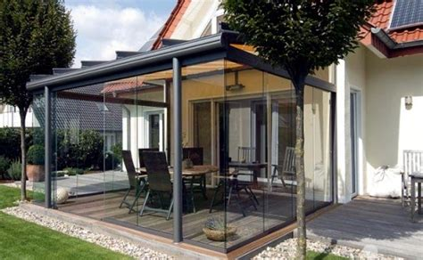 glass canopy   terrace  beautiful idea