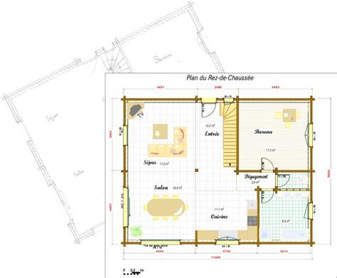 plans maisons plain pied 3 chambres plans et photos chalets maisons bois