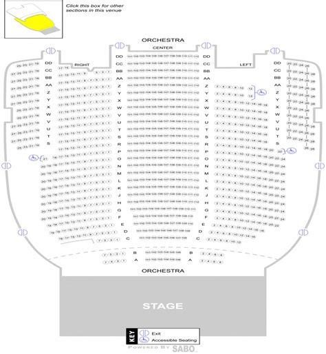 seating chart sandusky state theatre