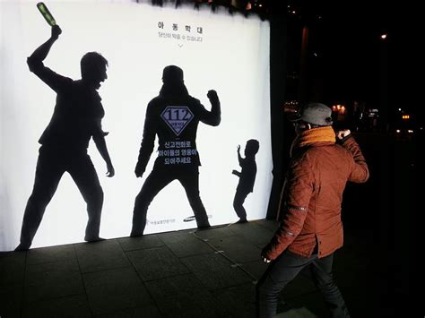 Billboard Stand by Powerful Billboard In South Korea Lets You Step In And