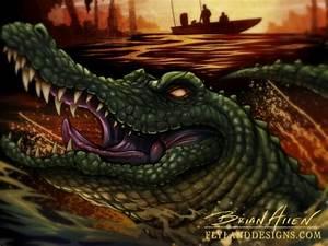 Swamp Alligator illustration for Swamp People - Flyland ...