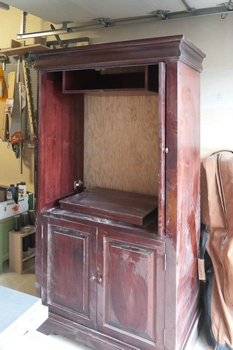 Upcycled Tv Armoire by Upcycled Media Cabinet Into Armoire Hometalk