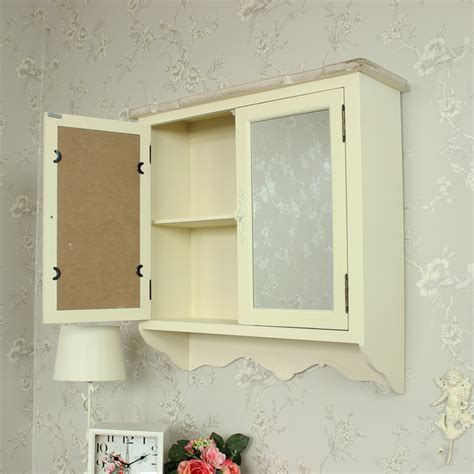 shabby chic bathroom storage cream wooden mirrored wall cabinet shabby vintage chic country bathroom storage ebay