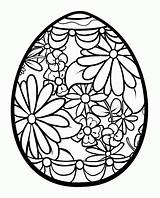 Coloring Egg Easter Detailed Popular sketch template