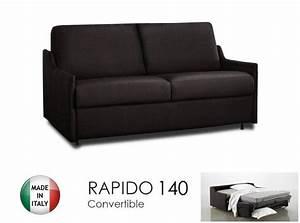 canape lit 3 places luna convertible ouverture rapido With canape en cuir marron chocolat