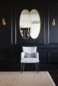 Mirror Black and Gold Walls