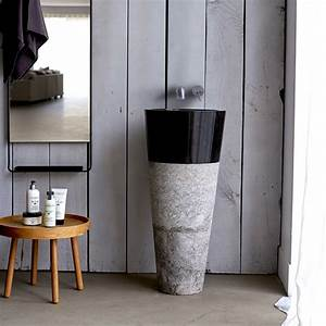 vasque sur pied vente vasque sur pied en marbre koni sur With salle de bain design avec vasque totem pierre