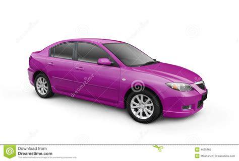 Car Image Purple Car W Clipping Path Stock Illustration Image