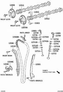 2007 Toyota Camry Gasket For Chain Tensioner   Engine
