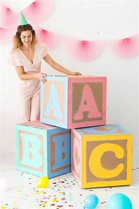 giant baby block decorations oh happy day bloglovin With diy large letter blocks