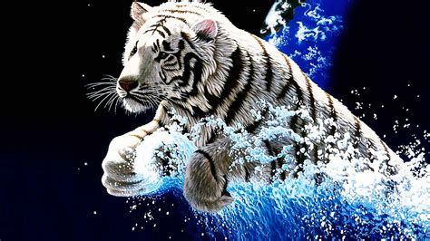Computer Wallpaper Animated - 3d animated tiger wallpapers 3d wallpaper hd