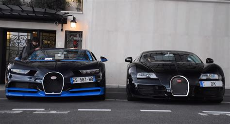 Bugatti Veyron And Chiron by Bugatti Chiron Meets Veyron And Turns Heads In Monaco