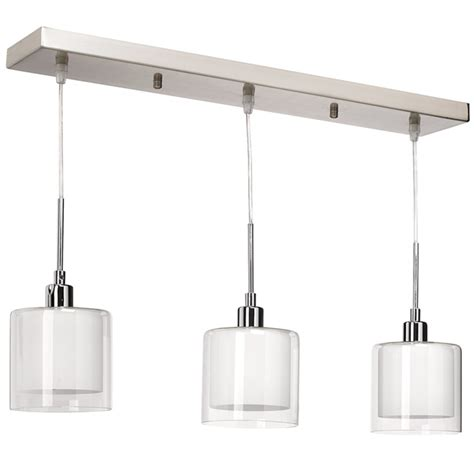 le de cuisine suspendu luminaire suspendu à 3 lumières limbourg rona
