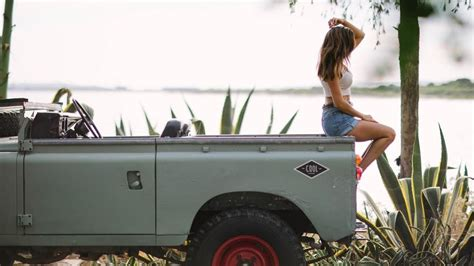 Nothing Goes Together Like A Gorgeous Girl And Land Rover Series Iii Airows