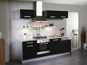 Cuisine Équipée Noir : cuisine complete noir laque prix cuisine pas cher cbel cuisines ~ Melissatoandfro.com Idées de Décoration