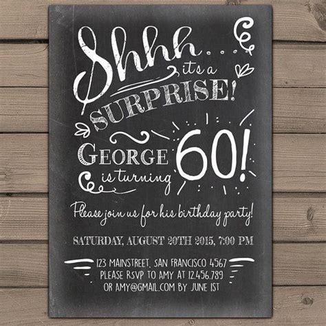 surprise  birthday invitation chalkboard