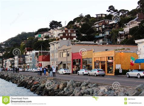 Landscape With Water And Promenade In Sausalito Editorial