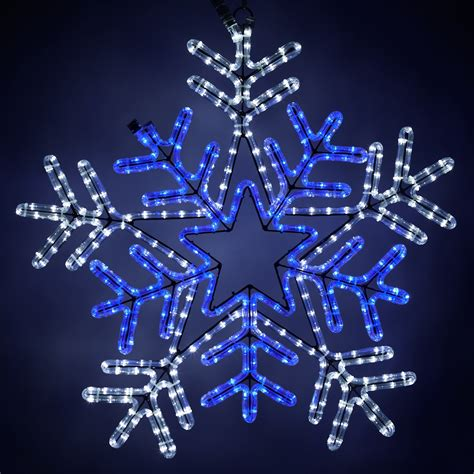 snowflakes stars  led snowflake  blue center