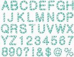 Pin by carshrilly on Vectors Patterns Flower   Alphabet ...