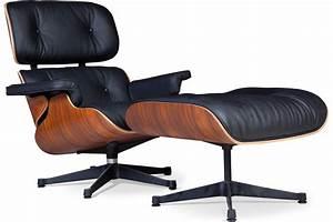 Fauteuil Cuir Et Bois : fauteuil lounge bois de rose et cuir noir pi tement noir ~ Teatrodelosmanantiales.com Idées de Décoration