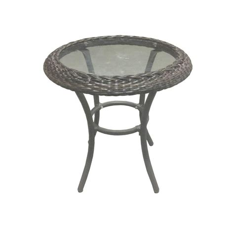 hton bay stacking patio side table d9544 ts the home