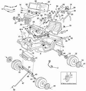 Power Wheels Jeep Wrangler 2000 Parts