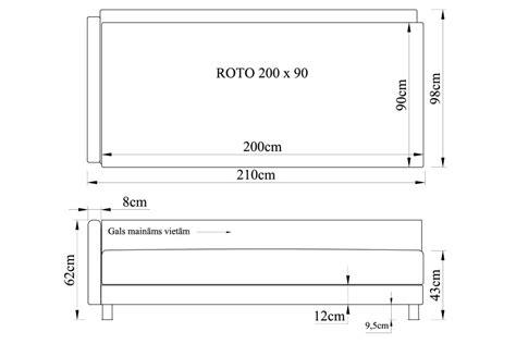 Gulta ROTO 200x90 ar audumu Arija - Vienguļamās gultas ...