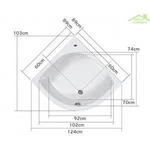 Baignoire Plastique Ou Acrylique by Baignoire D Angle Acrylique Mykonos 90x90 Cm 105x105 Cm
