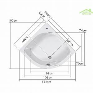 Baignoire Douche Dimension : dimensions baignoire d angle ~ Premium-room.com Idées de Décoration