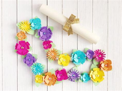 diy paper floral hawaiian lei cardstock warehouse paper