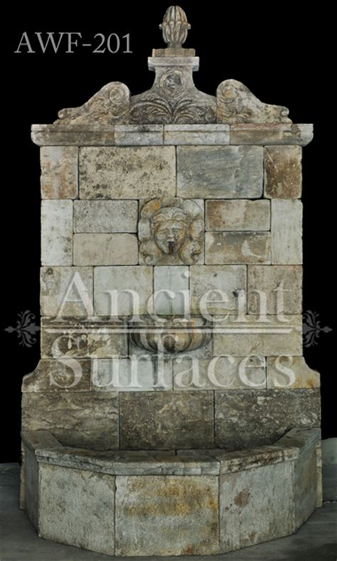 page    antique limestone wall fountains