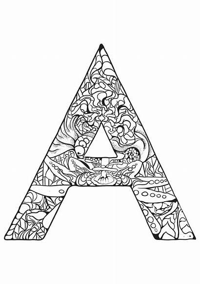 Alphabet Coloring Children Pages Simple Coloriage