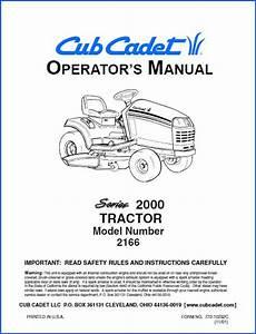 Cub Cadet 2166 Operator U2019s Manual