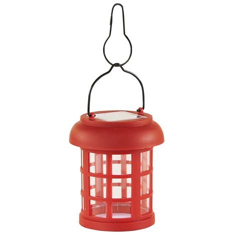 essential garden small hanging solar lantern
