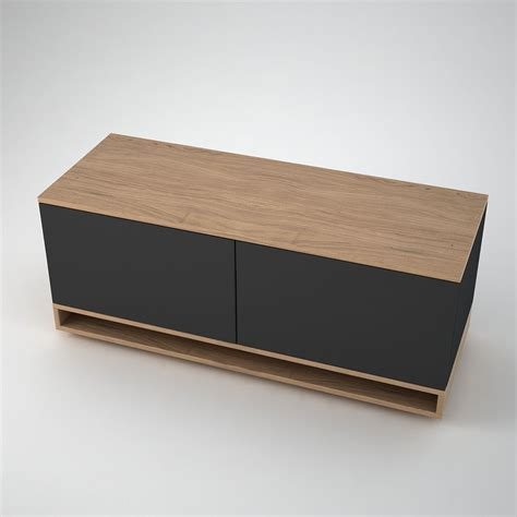 Low Sideboard by Harlem Low Sideboard 2 Anthracite Join Furniture
