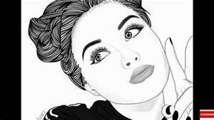 Fille Noir Et Blanc : dessin de fille en noir et blanc doriahxgtv youtube ~ Melissatoandfro.com Idées de Décoration