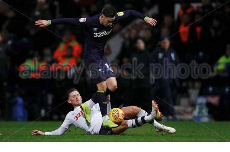 Derby County's Tom Lawrence and Preston North End's ...