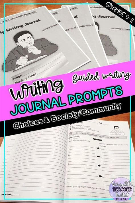 engaging writing journal prompts  choices society