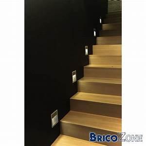 eclairage rvb spot led encaste pour escalier With spot pour escalier interieur