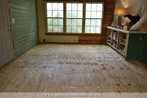 hardwood floors on slab breakfast room progress plywood subfloor installed over concrete slab for nail down solid