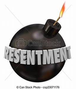 Stock Illustrations of Resentment 3d Word Black Round Bomb ...