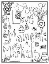 Coloring Market Farmers Maine Maple Syrup Printable Federation Drawing Markets Getdrawings Popular sketch template