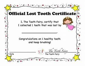 1st lost tooth certificate and letter tooth fairy children With tooth fairy letters for lost teeth