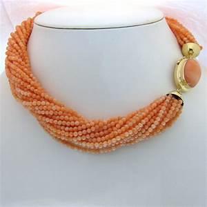 collier de corail rose 224 bijoux anciens paris or With bijoux corail